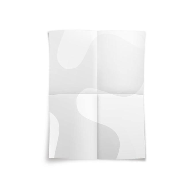 4K十字2摺海報-米色嵩厚道林紙