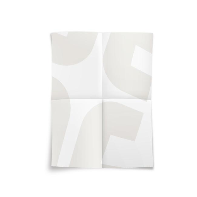 4K十字2摺海報-道林模造紙